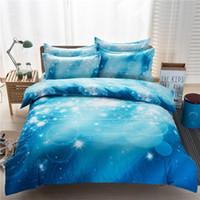 Wholesale Cotton Comforter Quilt - 3d bedding set Home Textiles nebula Star four - piece quilt designer bedding sets bed sheets comforter sets 901