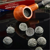 Wholesale Combustion Burning - 25pcs Lot Different Diameter Combustion Tobacco Smoke Pipe Screen Smoking Herb Pipe Screen Metal Screen Burning Bowl