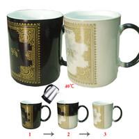 Wholesale Heat Sensitive Ceramic - Heat Sensitive Ceramic Mugs best gifts harry potter ceramic magic full color changing mug tea cups DHL Free OTH326