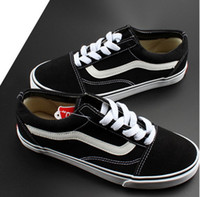 Wholesale Vs Lace - black and white classic low to help men and women couple models canvas shoes vs free shipping