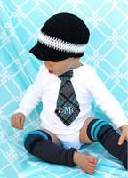 neugeborene schädelmütze großhandel-Zeitungsjunge Striped Hut Baby Kids Infant Kleinkind Mädchen Boy Newborn Winter Kinder Beanie Crochet Gestrickte Totenkopf Cap 100% Baumwolle Fotografie Requisiten