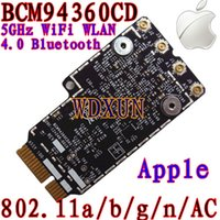 Wholesale Gigabit Card - Wholesale- Broadcom BCM94360CD 802.11ac mini PCI-E WiFi WLAN Bluetooth 4.0 Card 1200Mbps 4360CD