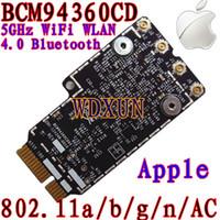 Wholesale Wlan Card Bluetooth - Wholesale- Broadcom BCM94360CD 802.11ac mini PCI-E WiFi WLAN Bluetooth 4.0 Card 1200Mbps 4360CD