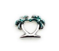 Wholesale Diy Coconut Tree - 20PCS lot Coconut Tree DIY Alloy Floating Locket Charms Fit For Glass Living Magnetic Memory Lockets Fashion Jewelrys