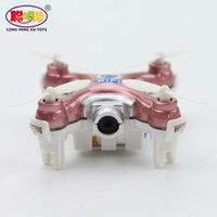 Wholesale Wholesale Walkera Helicopters - Cheerson CX-10W CX10W Wifi FPV RC Drone With 720P 0.3MP Camera 3D Flip 4CH CX10 Update Version Mini Drone Helicopter Toy Gift
