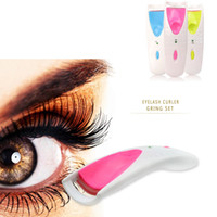 Wholesale Eyelash Perm Curler Clip - Wholesale-High quality 1 PC Beauty Makeup Electric Eyelash Curler Eye Lash Perm Heated Eyelashes Clip Recourbe Clis Make Up Automatic