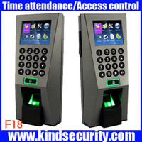 Wholesale Door Security Fingerprint - Wholesale-Biometric Building Management System ZK F18 Biometric Fingerprint Access Control and Time Attendence Security System for Door