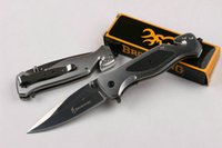 Wholesale military clips - Browning DA74 Steel Pocket Folding Knife 440C 57HRC G10 Tactical Camping Hunting Survival Rescue Knife Military Utility Clip EDC Tools