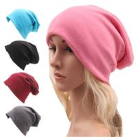 Wholesale Thin Cotton Turban - Skully Beanies Hat Ladies Autumn and Winter Unisex Hat Women Hooded Casual Cap Turban Thin Hip-hop Cap Solid Color Gorros Hombre