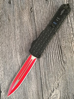 Wholesale Double Edged - Grady Fung Brand Design GFT03 Red Blade Double Edge Combat Tactical OTF Knife Troodon Survival Rescue Camping Knifes Hand Tools Gear