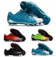 Wholesale Cheap Boots For Kids - 2017 soccer cleats Hypervenom Phantom 3 III FG low top neymar boots cheap soccer shoes for men authentic football boots mens kids leather