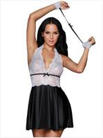 001766c3da8 Womens Lace Patchwork Babydoll Sleepwear Halter Nightwear Mesh Lingerie  Outfits Size  S M L DLM31052
