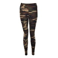 Wholesale Graffiti Leggings For Women - Wholesale- Sexy Fashionable Women Camouflage Army Green Stretch Leggings Pants Trouser Graffiti Slim For Women Gifts Wholesale 3 Color 1Pcs
