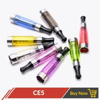 Wholesale Ego T Wickless Atomizer - No wick Ce5 atomizer wickless clearomizer Electronic cigarette upgrade CE4 1.6ml No cotton for eGo series e cigarette ego t ego-t atomizers
