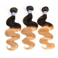 Wholesale Peruvian Hair 27 Pc - Dark Root Ombre Hair Bundles Color1b 27 Body Straight Brazilian Peruvian Indian Malaysian Human Hair 3 4 5 pcs lot