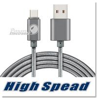câble de charge usb 2a achat en gros de-Câble micro USB tressé de boîtier métallique