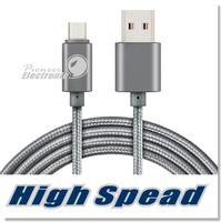 cable micro usb para teléfono inteligente al por mayor-Cable de metal trenzado de la vivienda del metal 2A cable de carga de alta velocidad durable del USB C con la vida útil de la curva 10000 para el teléfono elegante de Android