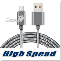 Wholesale Charge Blackberry Usb - Metal Housing Braided Micro USB Cable Durable Tinning High Speed Charging USB Type C Cable with 10000 Bend Lifespan for Android Smart Phone