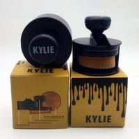 Wholesale Sealed Hair - New kylie brush Sealed Push and pull style powder brush Cosmetics foundation contour brush with gold box Makeup brushes DHL Free
