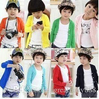 Wholesale Crochet Baby Sweaters - 14 style Children Crochet Clothing Kids Tops Baby Boys Girls Plain Sweater Coat Blouse Crochet Winter Autumn Knitted Sweaters 100-140cmE931