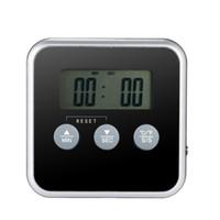 dijital et termometresi zamanlayıcı toptan satış-1 Adet Dijital Ekran C / F Gıda Termometre Probu Zamanlayıcı Ölçer Pişirme Mutfak BARBEKÜ Et