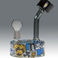Wholesale Ski Mask Glass - 2017 Slum Gold x Ski Mask - Puck glass oil rig glass bongs Bubbler recycler oil rigs bongs pipe hookah recycler perfect glass bongs