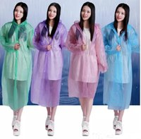 Одноразовый плащ Adult Emergency Waterproof Hood Poncho Travel Camping Must Rain Coat Unisex Wholesale A 080