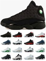Wholesale Cheap Winter Cats - Black Cat Cheap New Air Retro 13 13s Mens Basketball Shoes XII Good Quality Black Yellow Red Blue Green Grey US8-13