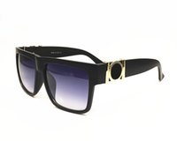 Wholesale Medusa Glasses - Fashion medusa retro outdoor square sunglasses men luxury brand original sun glasses come with case and boxes