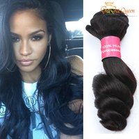 Wholesale great remy hair - Wholesale Great Quality Hair Weave Uprocessed Brazilian Hair Bundles Wet and Wavy Loose Wave Virgin Brazilian Loose Wave Products Remy Hair