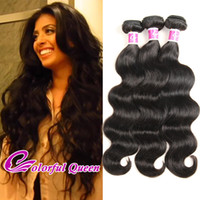 Wholesale Cheap Colorful Weaves - Colorful Queen 7A Soft Malaysian Virgin Hair 3 Bundles 300g Lot Cheap Malaysian Body Wave Human Hair Deals Malaysian Body Wave Hair Weaves
