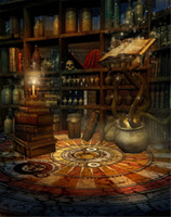 Wholesale Printed Picture Book - Indoor Room Bookshelf Backdrop Photography Old Magic Book Skull Hallowmas Vintage Studio Background Halloween Picture Shooting Wallpaper