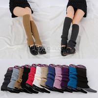 Wholesale White Slouch Socks - Wholesale- Women Winter Warm Knit Crochet Slouch High Knee Leg Warmers Leggings Boot