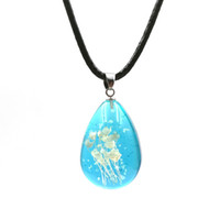 Wholesale Luminous Rope - Popular immortal dried flowers necklace full of stars specimens luminous necklace resin water droplets pendant necklace
