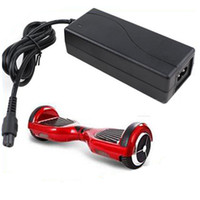 Wholesale Scooter Chargers - Universal Hoverboard Charger Electronic Scooters Battery Charger for smart balance wheel US UK AU EU Plugs 100-240V DHL Free