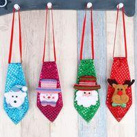 Wholesale Little Bear Lights - Tie Children Christmas LED Sequins Tie Santa Snowman Reindeers Little Bear Tie Fashion Xmas Party Decorations Free shipping XL-264