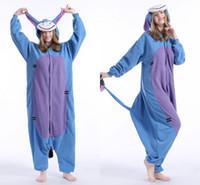 Wholesale Donkey Kigurumi - Wholesale - Onesies Kigurumi Unisex Pyjamas Animal Anime Costume Sleepwear Eeyore Donkey Unisex Kigurumi Pajamas Adult Anime Cosplay Costum