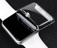 Wholesale cases for s2 - Clear Hard Watch Case Ultra Thin Full Body Case for Apple Smart Watch S1 S2 38MM 42MM PC Defender Cover Protector Case
