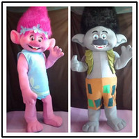 Wholesale Mascot Elf - Trolls Mascot Costume Fancy Dress Outfit Poppy Mascot Branch Adult Size Patty dress elves csp dress Poppy Branch