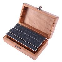 Wholesale Wood Script - Wholesale- 70PCS DIY Vintage Multi Purpose Regular Script Number Lowercase Alphabet Letter Decoration Wood Rubber Stamps Set Wooden Box