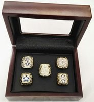 Wholesale Dallas Cowboys Championship Rings - 5 Pcs Sets Dallas Cowboys 1971 1977 1992 1993 1995 Super bowl Championship Ring With Wooden Box Size 8-14