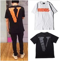 Wholesale Vlone T shirt High Quality Brand Clothing Summer Style Friend Hip Hop Skateboard Tops Tees Kanye Yeezus Vlone Friends T Shirts
