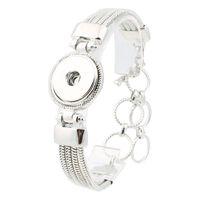 Wholesale Mens Button Jewelry - 18MM Snap Button Jewelry Antique Silver Snaps Bracelet Alloy Pulseira for Women Mens DIY Snap Button Bracelet ZE016