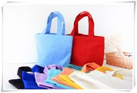 Wholesale 2016 Lunch bag pure cotton canvas small portable canvas cloth board box makeup bag hand bag bag