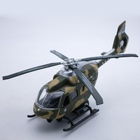 Wholesale Helicopter Diecast Toy - 22CM Length Diecast Military Helicopter Model Replica, Plane Toys For Boy Children, Airplane With Pull Back Function Music Light