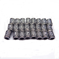 Wholesale Fusing Silver - Runes Charm Viking Beads for Jewelry Making Small Floating Charms Beads for Bracelets Diy Beads for Beard or Hair Jewelry