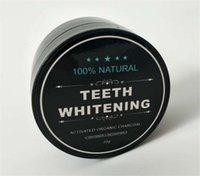 ingrosso cibi denti puliti-NUOVI denti che imbiancano l'igiene orale che pulisce l'igiene che imballa la polvere di bambù attivata del commestibile di qualità della polvere del carbone di legna Dropshipping