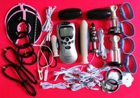 Männliche elektrische Schock Penis Ringe, Anal Plug, Nippel Massage Pads Medical Themed Sex Spielzeug Kit Elektro Stimulation Sex Toys