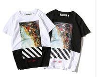 Crew Neck paint skateboard - off white New pattern high quality Pure cotton Mosaic Oil Painting men women T shirt palace skateboard suprem yeezus t shirt KANYE WEST