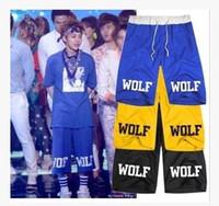 Wholesale Luhan Sehun Wolf - Freeshipping exo Wolf 88 short loose casual short pants sport half pants new arrival visio wolf printed shorts KPOP LUHAN KRIS SEHUN 8 colo